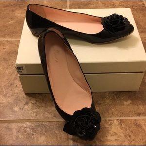 Kate Spade Women Shoes Flats Black Patent Leather